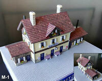"""M1 Built Up Train Station 110 mm x 40 mm (4.3"""" x 1.6"""") for NOCH Z Layout"""