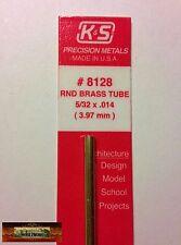 "M00334 MOREZMORE 1 Brass Round Tube #8128 5/32"" K&S Engineering Tubing A60"