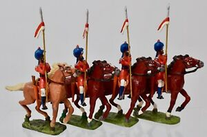 NEW TOY SOLDIERS-Duke of Connaughts Lancers (Watsons Horse) - LOT OF 4-LOT D22