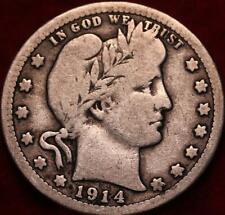 1914-D Denver Mint Silver Barber Quarter