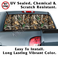 Oak Tree Camo BACK Window NL Graphic Perforated Film Decal Truck SUV