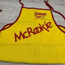 Vintage McDonald's Founders Day 1986 McRookie Yellow Chef Apron