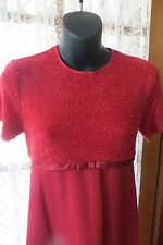 VINTAGE Style  60'S ~ ZODIAC COLLECTION ~  Red ~ DRESS * Size 8 * REDUCED !!