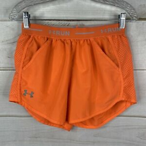 Under Armour Heat Gear Women's XS Orange Running Shorts Active Loose Fit