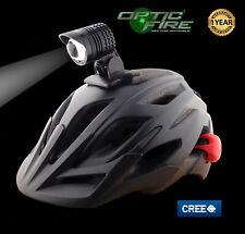 Opticfire® Cyclops 2.0 CREE XM-L2 ZOOM LED USB bike cycle helmet light lights