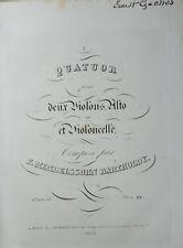 Collection de 19 Grands Quatuors Violon Mendelssohn Schumann 19è siècle Relié