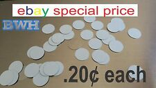 """1"""" CIRCLE - DISC for Dye Sublimation  / .025 gauge aluminum / jewelry making 50"""