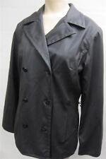 womens EXPRESS STRETCH B/U POLYURETHANE POLYVINYL sz 3/4 RAIN  jacket coat CLEAN