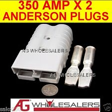 350 AMP 2 x ANDERSON STYLE PLUG CONNECTOR WIRE JOINER 350a