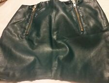 H&M Faux Leather Teal Mini Skirt Size 12