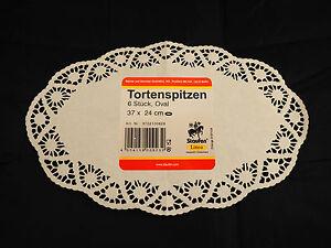 25 x 6 Tortenspitzen = 150 Stück oval aus Papier, Tortenspitze, Tortendeckchen