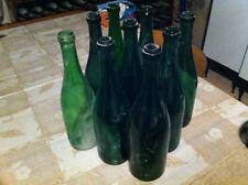 Lotto 9 Bottiglie di vetro per vino vuote