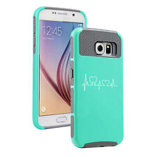 For Samsung S6 S7 Edge S8 + Shockproof Hard Case Cover Heart Beats Dentist Tooth