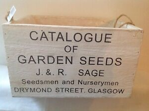 Wooden crate decorative seed box with print on ideal for storage
