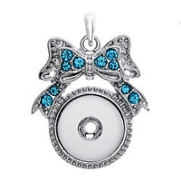 NEW  Crystal Alloy Pendant for Fit Noosa Necklace Snap Chunk Button A313
