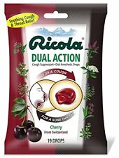 Ricola Dual Action Cgh Dr Size 19ct Ricola Dual Action Cough Drops Cherry 19ct