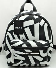 DKNY SPORT NORA BACKPACK Women's Black/White Logo Nylon R92KEE50 $168 NEW