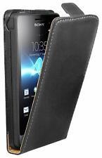 Sony Xperia GO Hülle Tasche Flip Case Schutz Etui Cover Case schwarz