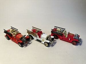 Hot Wheels Old Number 5 fire engine - loose lot of 3 incl 100th Anniversary