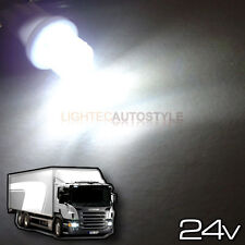2x 24 Volt 24v LED 501 t10 w5w XENON Bianco Camion sidelight lampadine concavo 6000k