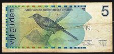 Billet 10 Gulden 1986. Bank van de Nederlandse Antillen