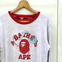 00's A Bathing Ape Bape x Kaws Reversible Long Sleeve T-shirt White x Red Camo
