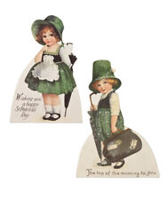 Bethany Lowe St Patrick's Day Luck O The Irish Dummy Board Set/2 Decorations