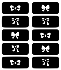 Bows Nail Art Vinyl Stencil Guide Sticker Manicure Hollow Template
