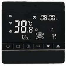 ELETTRICO Riscaldamento a pavimento termostato Touch Screen digitale 24/7 WI FI NERO