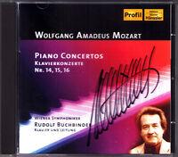 Rudolf BUCHBINDER Signiert MOZART Klavierkonzerte Nr.14 15 16 CD Piano Concerto