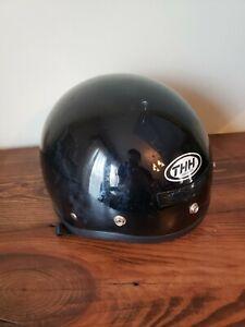 THH T-5 Cruiser Bike Motorcycle Half Helmet, Glossy Black DOT