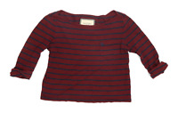 Abercrombie & Fitch Womens Size S Striped Cotton Blend Multi-Coloured Top (Regul