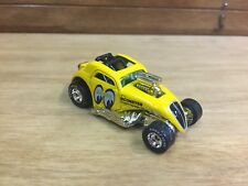 Hot Wheels 2000 Fiat 500C Dragster Mooneyes Yellow w/RR Real Riders Loose