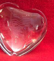Flawless Baccarat September 11th Memorial Crystal Heart in original red box