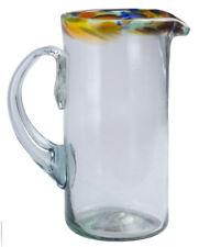 Orion Mexican Glassware Confetti Rim 56 oz Margarita Pitcher
