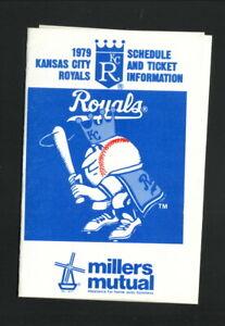 Kansas City Royals--1979 Pocket Schedule--Millers Mutual