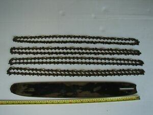 """20"""" Oregon used chainsaw bar 26215 QQ 3/8 with 4 used chains Combo"""
