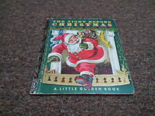 VINTAGE A LITTLE GOLDEN BOOK THE NIGHT BEFORE CHRISTMAS 1949   F on last page