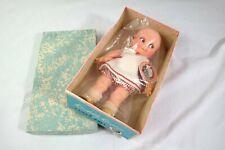 """1960's Vtg Kuddly Kewpie Cameo Doll 9"""" Rosie O Neil w Wrist Tag Mint in Box"""