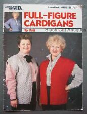 Original Vintage Leisure Arts Full Figure Cardigans Knitting Book Leaflet #465