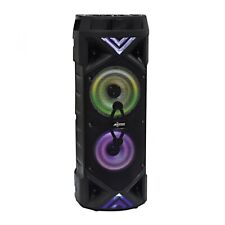 "Loud Double 6.5"" LED Portable Bluetooth Speaker, with FM Radio & AUX Input"