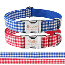 Lattice Personalized Dog Collar Adjustable Free Engraved ID Name With Tag XS-L