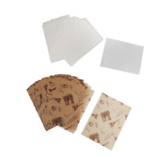 100x Eiffel Tower Newspaper Wax Tissue Paper Candy Food Sweets Gift Wrapping
