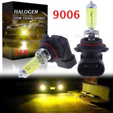 55W 9006 HB4 Replace HID LED Headlight Halogen Bulbs Lamp Light Yellow Amber 3K