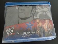 WWE Wrestling RINGSIDE Twin Bed Sheet Set NEW John Cena Triple H Free Shipping