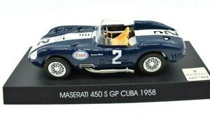 MODELLINO AUTO SCALA 1/43 COLLEZIONE MASERATI 450 S GP CUBA DIECAST EDICOLA