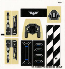 LEGO 76001 - Batman - The Bat vs. Bane: Tumbler Chase - STICKER SHEET