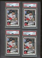 Lot of (4) 2014 Topps Update #US26 Mookie Betts Batting RC Rookie PSA 10