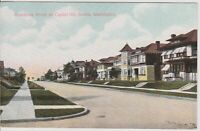 View of Residence Street on Capitol Hill, Seattle, WA.   Vintage postcard