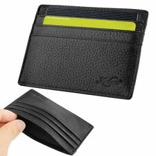 Zodaca® Genuine Real Leather Slim Credit Card Holder Mini wallet ID Case Wallet